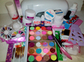 9W UV white dryer lamp 24 color Acrylic Powder Nail Art Kit gel tools Set