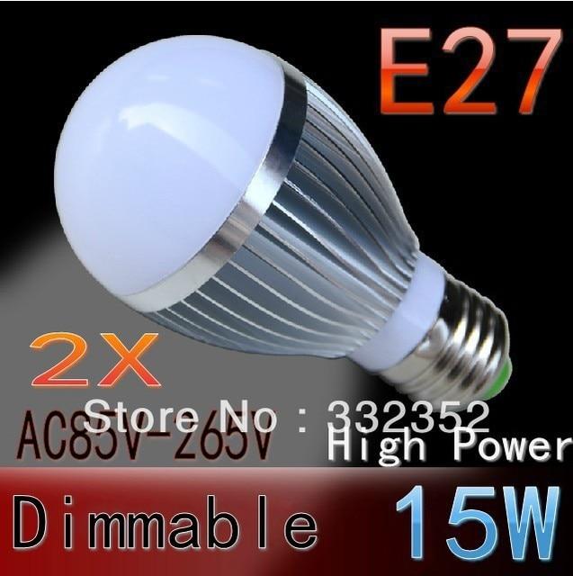2pcs/lot  Dimmable Bubble Ball Bulb  9w 12W 15W  E27 GU10 E14 B22  Ball Steep light Globe light LED Light Bulbs Lamp Lighting