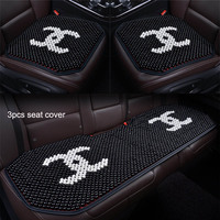 Car Seat Covers Massage Wood Beads Car Seat Cushion summer Cool Seat Mat for kia hyundai volvo lada kalina granta priora renault