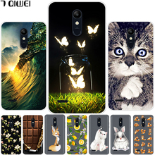 hot deal buy 5.3'' for lg k11 case lg k11 2018 cover silicone soft cute tpu phone case for para lg k11 k 11 lgk11 case painting cat funda