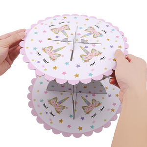 Image 2 - 1 PCS Unicorn Cake Stand Three Layers Unicorn  Birthday Party Supplies Dessert Stands Wedding Party Favors