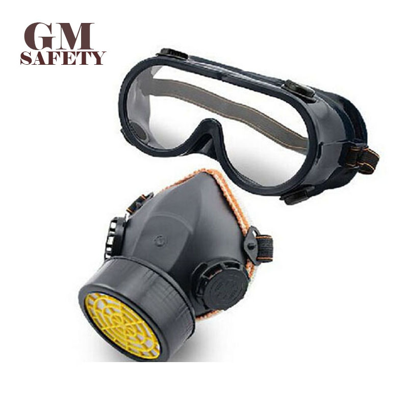 Single Tank Gas Masks Protective Mask Respirator Against Painting Dust Storms Formaldehyde Pesticides Spraying Mask R55262 security labour protective mask equipment bicyle masks against the warm full face mask pirates of the caribbean dust mask fc