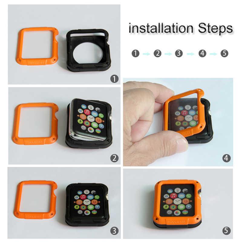 SGP מגן כיסוי עבור אפל שעון 6 SE מקרה 44mm 40mm 42mm 38mm PC Case עבור iwatch 6 5 4 3 2 למניעת נפילות מסגרת אביזרי פגז