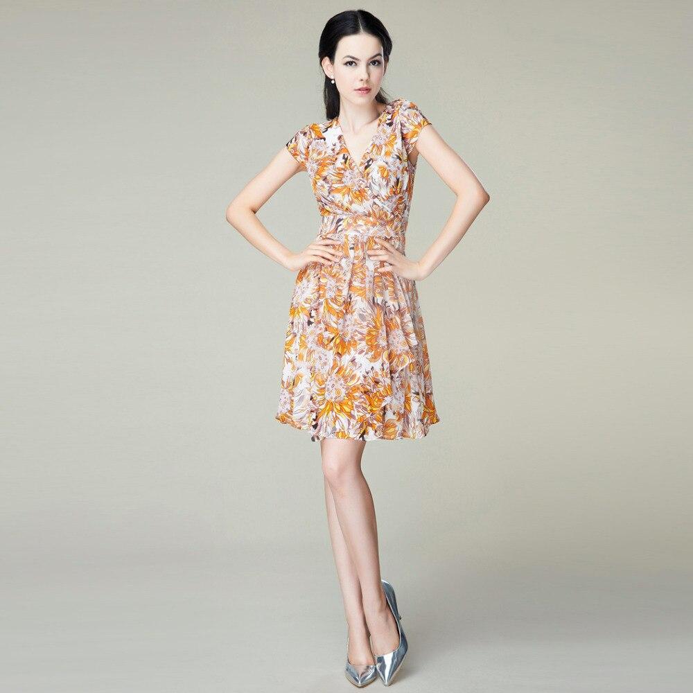 5c7c266e8e1289 Czeski sukienka szyfon jedwabny-1303/100% naturalnego jedwabiu kobiety  sukienka/Exclusive Desigual lato nowa sukienka na imprezę/S, m, L, XL, XXL
