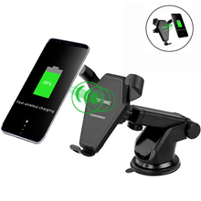 Wireless Car Charger Fast  Car Mount Cellphone Gravity Linkage Air Vent Holder Charging Pad for iphone 8 Samsung S8 Plus,S7 s6 mobile phone car vent holder