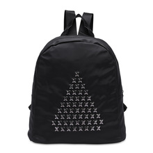 He new fashion strap solid casual male backpack school canvas bag designer backpacks for men