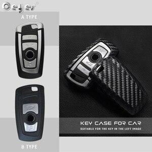 Image 5 - Ceyes רכב סטיילינג אוטומטי סיבי פחמן מפתח כיסוי מעטפת מקרה עבור Bmw חדש 1 3 4 5 6 7 סדרת F10 F20 F30 חכם 3 כפתורי אביזרים