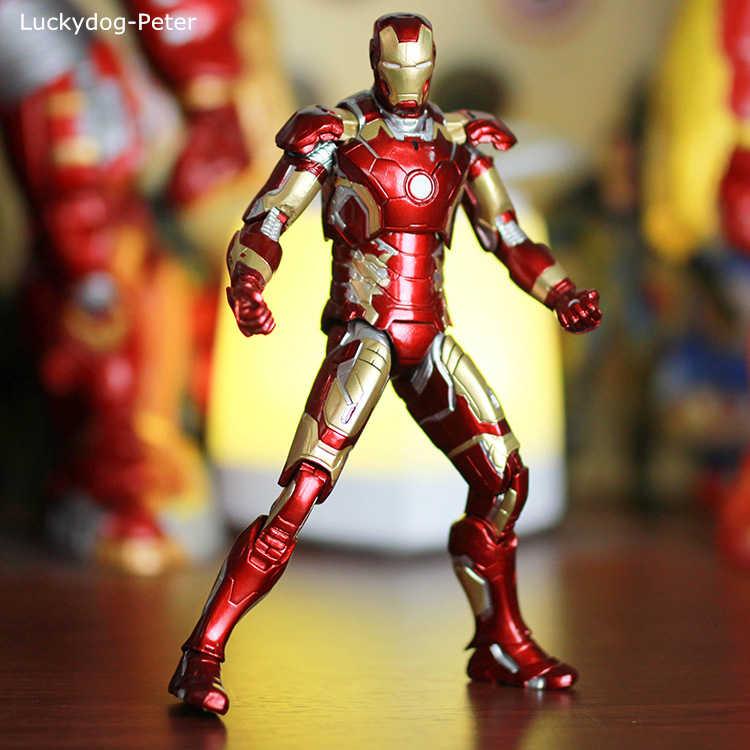 Avengers Age of Ultron Iron Man Mark XLII MK 43 LED HC TOY PVC Action Figure