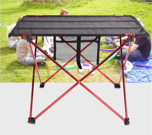Image 3 - Outdoor Camping Table with Aluminium Alloy Picnic Table Waterproof Ultra light Durable Folding Table Desk For Picnic& Camping