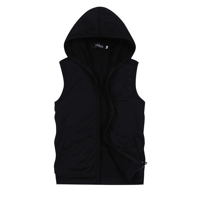 ad7ed81f7e0 Summer Pure Color Men's Sleeveless Hooded Jackets Large Size S M L XL 5XL  Blue Black White Gray Fashion Casual Men Jacket Vests