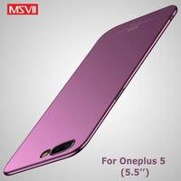 Coque de protection pour Oneplus 5, étui Ultra fin et mat pour OnePlus 5 T