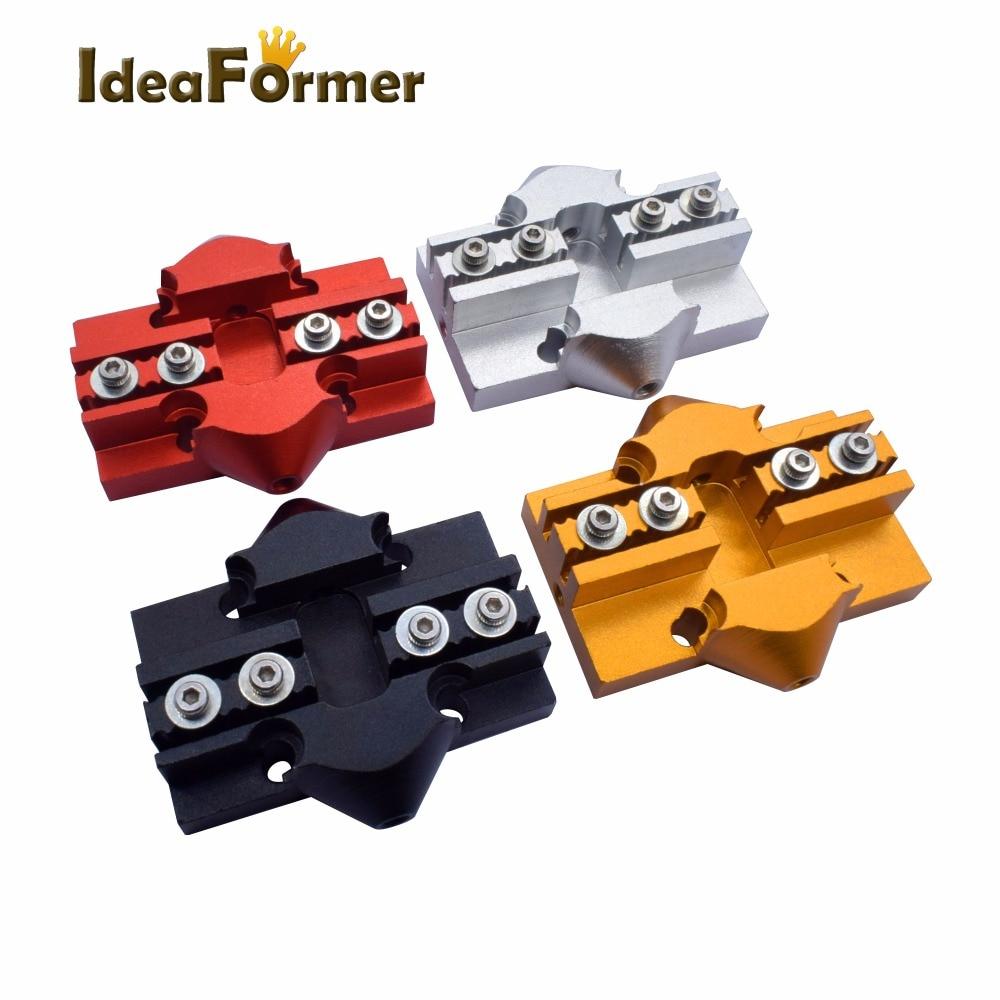 3D-принтер, алюминиевый слайдер Delta Kossel M3/M4 с винтовыми снасти, эффективная карета Kossel для 3D принтера, ремень с закрытым циклом