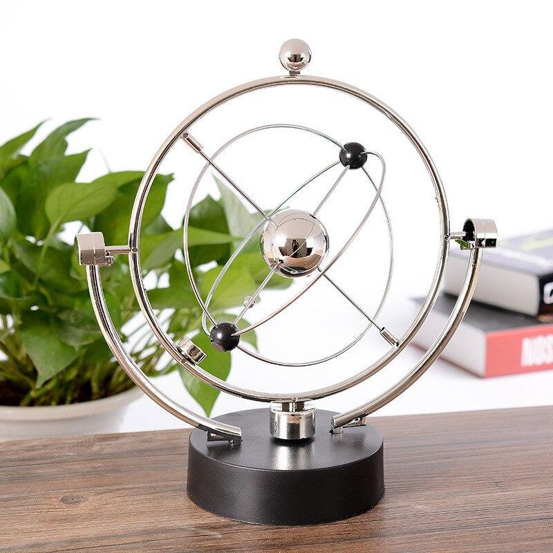 Orbite céleste Instrument perpétuel métal artisanat modèle électromagnétique Figurine ameublement Article décoration de la maison Figurines