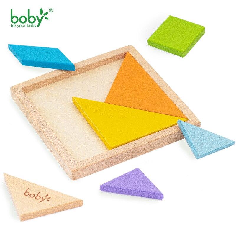 Boby Wooden Tangram 7 Piece Jigsaw Puzzle Красочный - Игры и головоломки