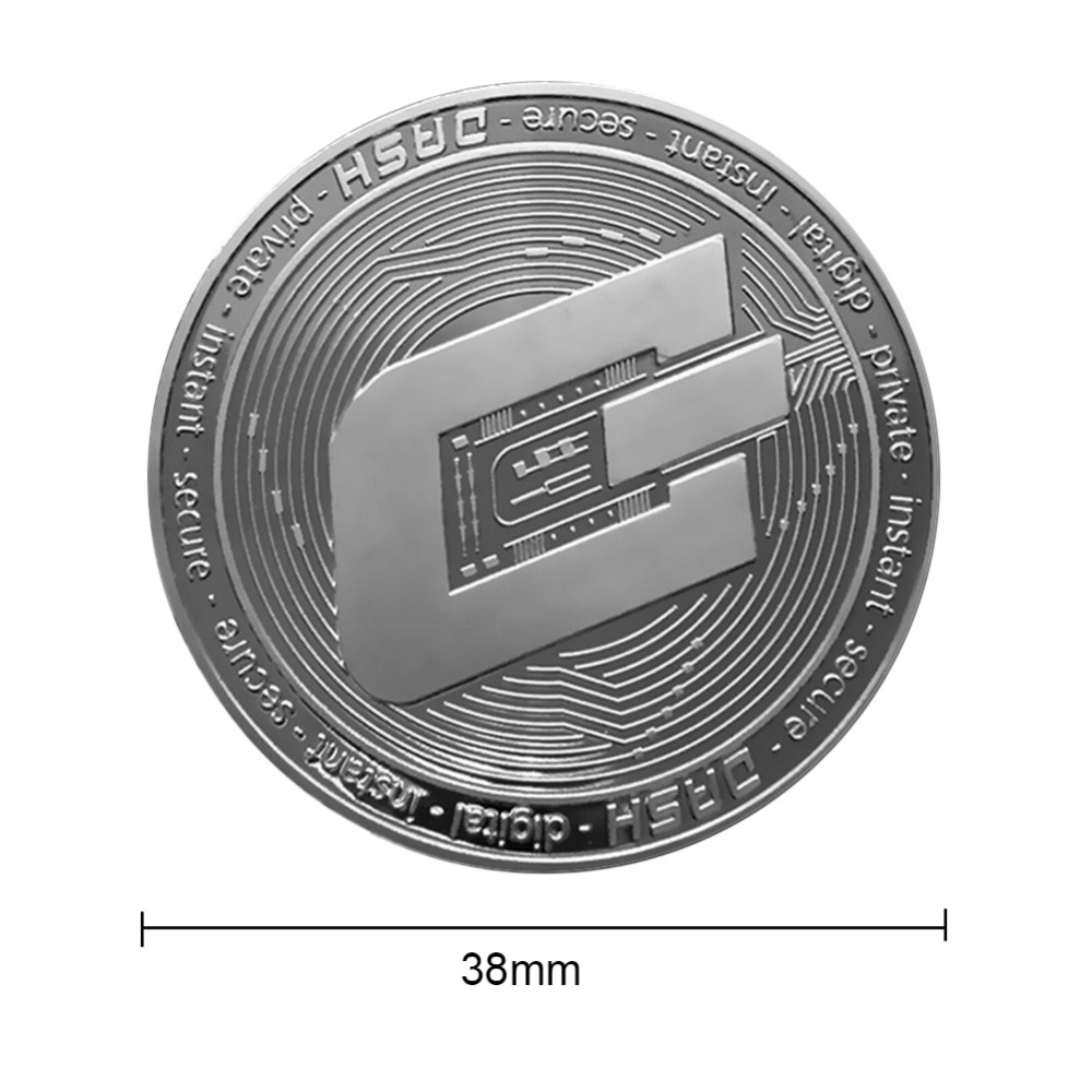 New Types BTC Dash Litecoin Ethereum Coins Currency Collection Physical Gift Collection Art Antique Home Holiday Deco Imitation  1