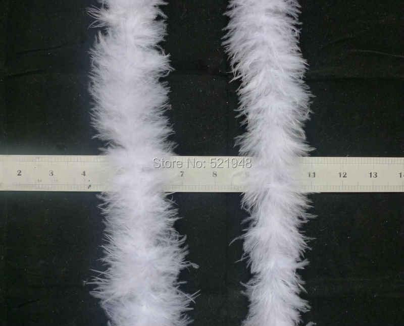 1 Pza/lote alrededor de 200 cm/78 pulgadas plumas de pollo Boas bufandas pavo plumas tiras para manualidades boda fiesta hogar tela accesorio