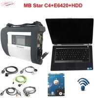 2017 mb sao diadnostic-công cụ c4 + E6420 máy tính xách tay i5 ECU 4 GB + HDD Full thiết lập tự động quét mb sao c4 xentry das + SD Kết Nối DHL miễn phí