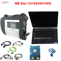 2018.3 mb star diadnostic tool c4+E6420 laptop i5 ECU 4GB+HDD Full Set auto scanner mb star c4 xentry+das SD Connect DHL Free