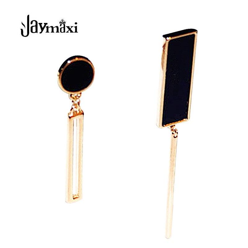 Jaymaxi New Fashion Geometric Earrings Women Simple Gold-Color Asymmetry Cute Drop Earrings E415186