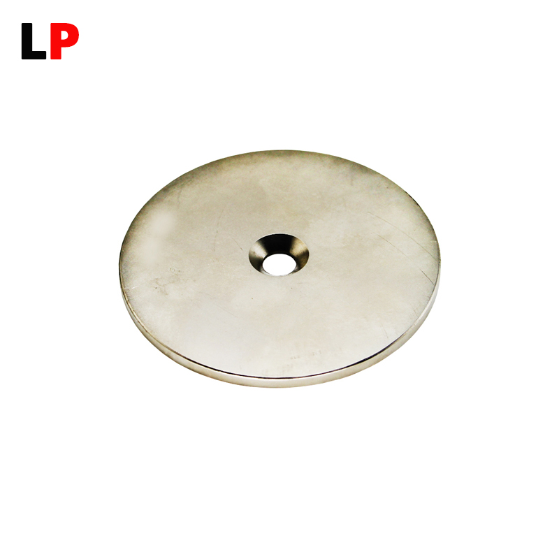1pcs Magnet Strong Countersink magnets 100mm x 5mm Hole : 10mm N38 Neodymium magnet Rare Earth Permanent Magnet Free shipping qs 3mm216a diy 3mm round neodymium magnets golden 216 pcs