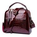 Caliente bolsa de Cáscara de Las Mujeres del Otoño Y el Invierno Bolso de La Manera Simple Bolso de Charol Bolsos de Cuero Mujer Bolsas de Conchas 50ZD