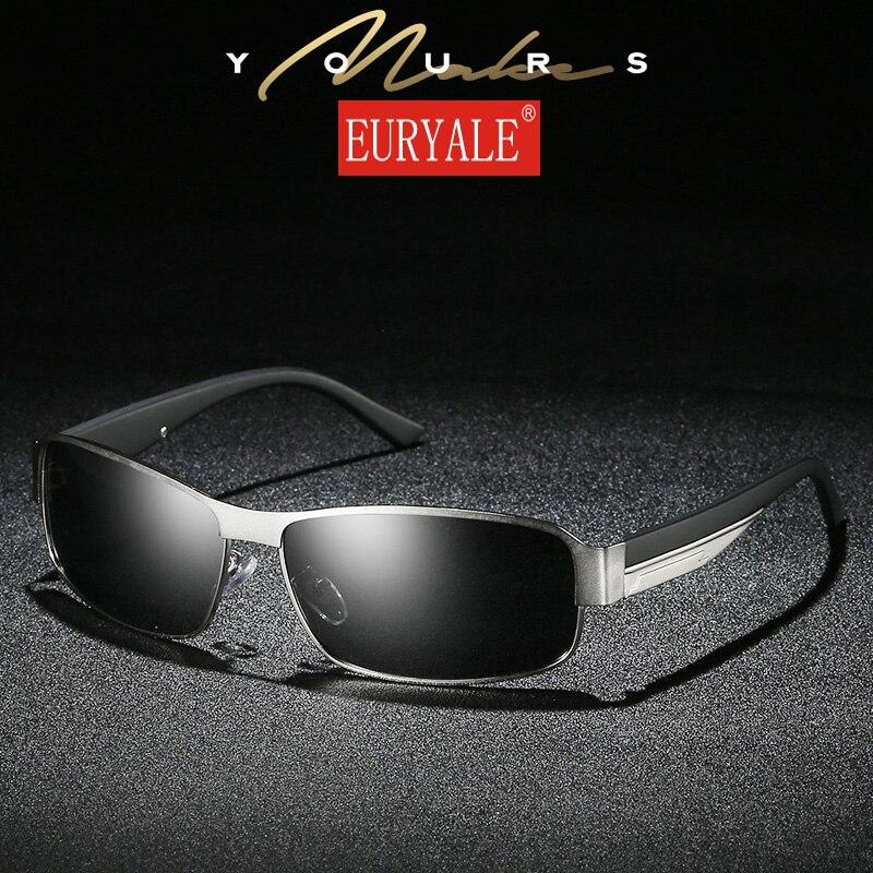 1b17000f707 EURYALE Brand Classic Square Plastic Polarized Men Sunglasses Men s Sun Glasses  Driving Fishing Aluminum Eyewear 8485