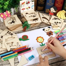 100 Pcs Paint Toy Set Baby Toys Creative Coloring Drawing Board Kids Toys Craft Children Creation Educational Wooden Drawing Toy