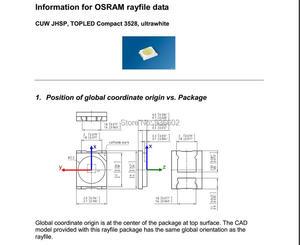 Image 4 - Osram led backlight led de alta potência 1.5w 3v 1210 3528 2835 131lm branco fresco lcd backlight para tv aplicação