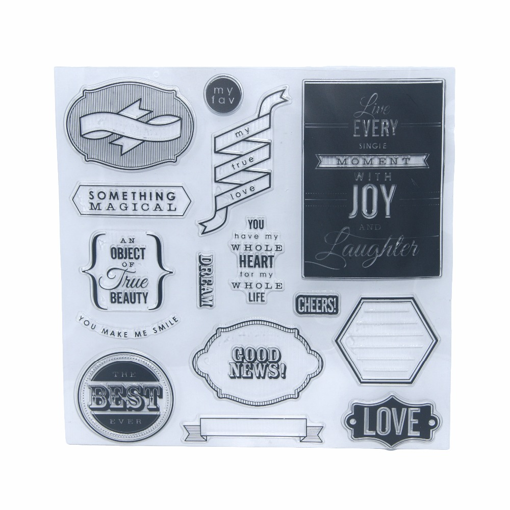 My True Love DIY Transparent Silicone Seals Stamp Supplies Various Dialog Box Words Clear Stamp Scrapbooking Card Album 20*20cm lovely animals and ballon design transparent clear silicone stamp for diy scrapbooking photo album clear stamp cl 278