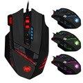Zelotes arana dragón edición 12 juego gaming mouse 4000 dpi ratón óptico con cable de programación de la llave