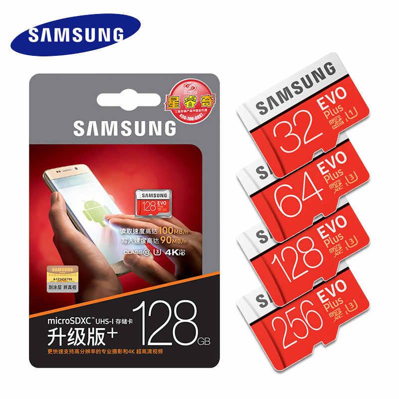 Thẻ Nhớ SAMSUNG Micro SD 256GB 32GB 64GB 128GB 512G SDHC SDXC Cấp EVO + class 10 C10 UHS TF SD Thẻ Trans Flash MicroSD