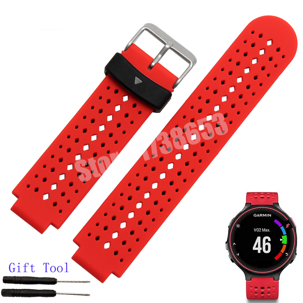 For Garmin forerunner 220/620/235/630/735XT Strap Silicone Rubber Watch band + Tool Not Adapter replacement silicone watch bands strap for garmin forerunner 235 630 230 gps watch