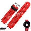 Para garmin forerunner 220/620/235/630/735xt cinta faixa de relógio de borracha de silicone + ferramenta não adaptador