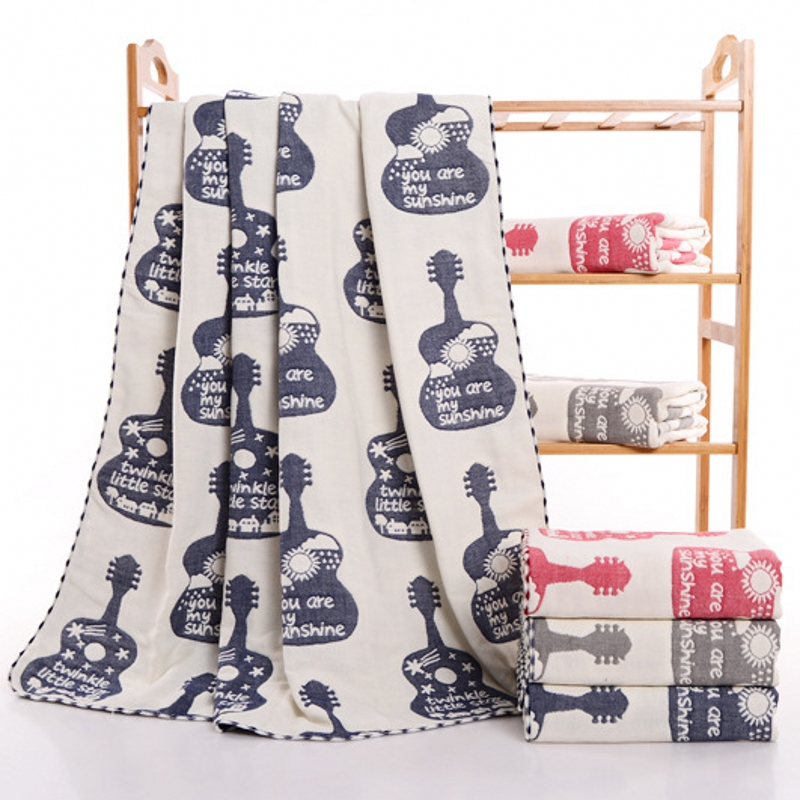Baby Muslin Blanket Cotton Infant Gaze Swaddle Kids Carseat Cover Toddler Modtagelse Jacquard Tæpper til Newborn Bed Brug