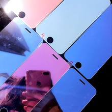 Phone Front Screen Colorful Mirror Transparent Phone Film Tempered Glass Protective Film for iPhone 6 6s 6P 6sP 7 7P 8 8P