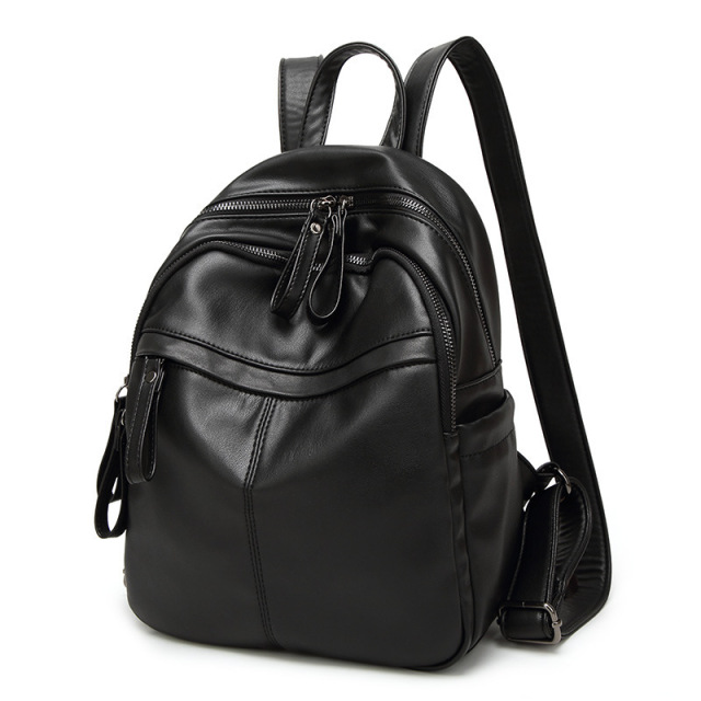 Genuine Leather Women Backpack