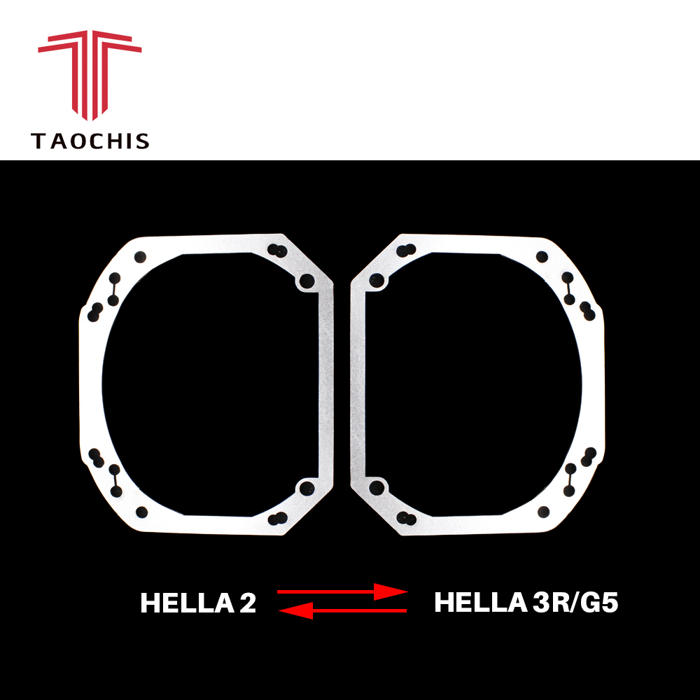 TAOCHIS Car-Styling Frame Adapter Module DIY Bracket Transition Frame Hella 2  Hella 3 5  Projector Lens Retrofit Framework