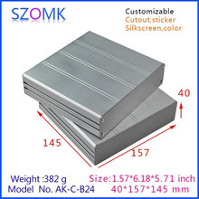 10 pieces a lot, hot sales grey aluminum profiles electronics heatsink junction housing 40*157*145mm