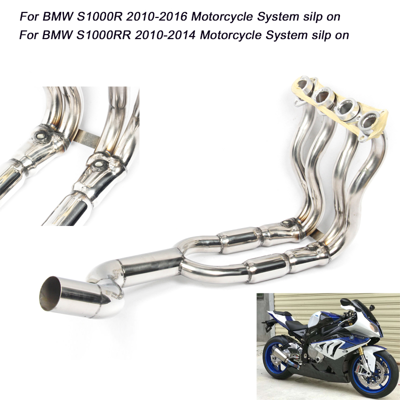 <font><b>S1000R</b></font> 2010-2016 S1000RR 2010-2014 Full Conneting Pipe Silp on for BMW s1000rr <font><b>s1000r</b></font> Motorcycle <font><b>Exhaust</b></font> System image