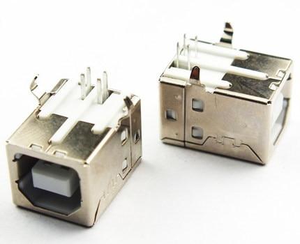 10pcs/lot USB B Type Female Socket Connector for Printer Data Interface Free Shipping 10pcs lot b type phone tail charing