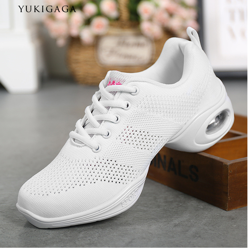 Dance Shoes For Women Modern Dance Shoes Breath Sports Mesh Ventilation Practice Dance Sneakers Lady Jazz Dancing Shoes Zapatos
