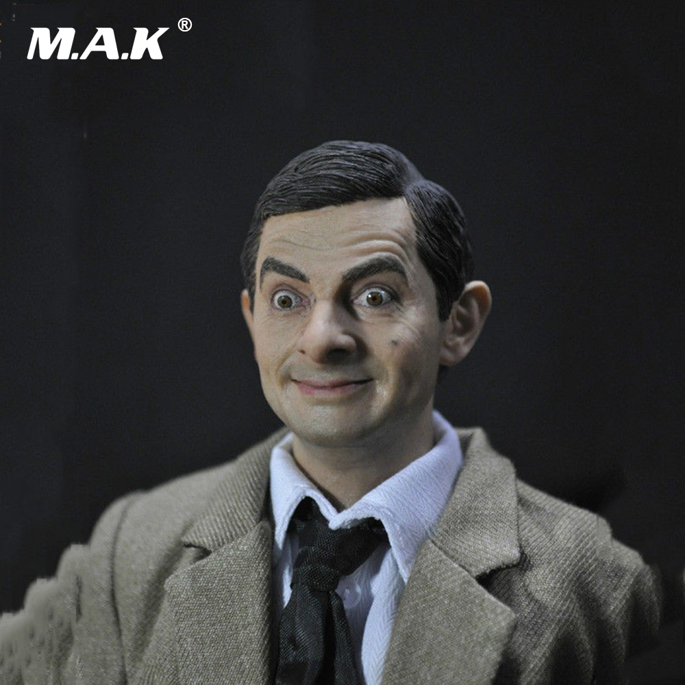 1/6 Male Head Sculpt Figure Mr Bean Lifelike Headplay for 12 Action Figure Collection Toys 1 6 headplay figure head model brown long hair female head sculpt 12 action figure collection doll toys gift