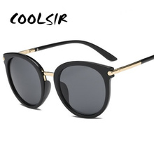 COOLSIR 2019 New Sunglasses Women Driving Mirrors Vintage For Reflective Flat Lens Sun Glasses Female Oculos UV400