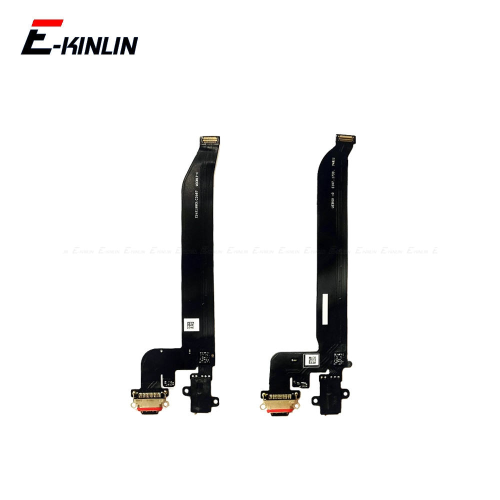 High Quality For OnePlus 5 5T 6 6T 7 Pro Type C USB Charging Port Dock Connector Flex Cable Replacement Assembly Parts image