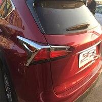 NX WELKINRY car cover auto styling Para Lexus 2015 2016 ABS chrome cauda lâmpada luz traseira acessórios de moldagem pálpebra sobrancelha guarnição
