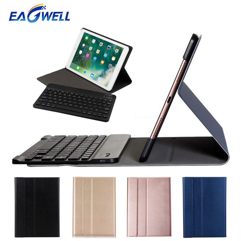 2 in 1 Removable Wireless Bluetooth Keyboard PU Leather Case For New iPad 9.7 2017 Air 1 2 Pro 9.7 Tablet Keyboard Case Cover leather case flip cover for letv leeco le 2 le 2 pro black