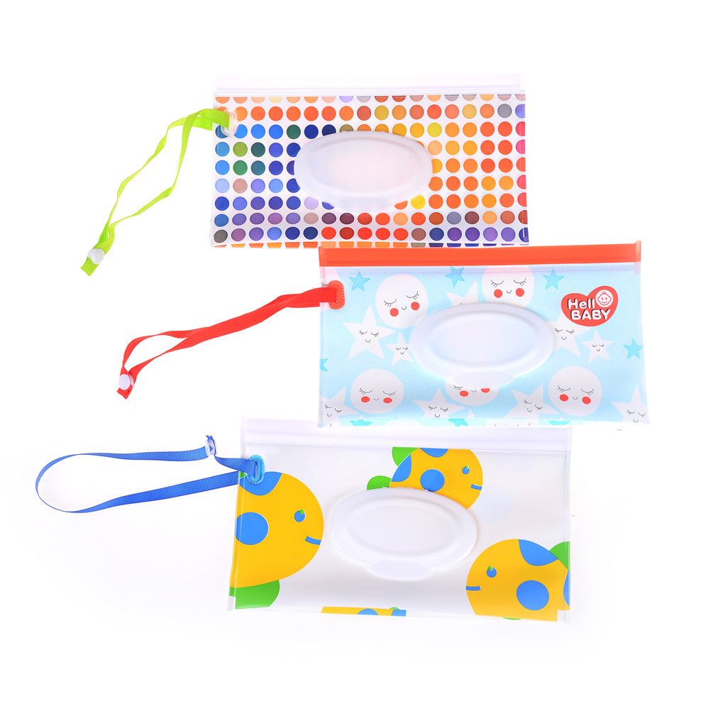 Nappy Changing Humorous Clutch And Clean Wipes Carrying Case Wet Wipes Bag Clamshell Cosmetic Pouch Easy-carry Snap-strap Wipes Container Eco-friendly