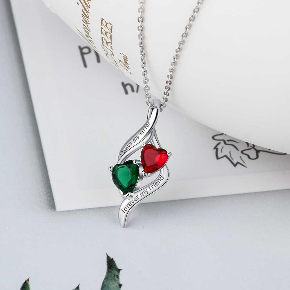 """Collier et pendentifs en argent Sterling 925 personnalisés """"toujours ma sœur pour toujours mon amie"""" colliers pour femmes (NE103113)"""