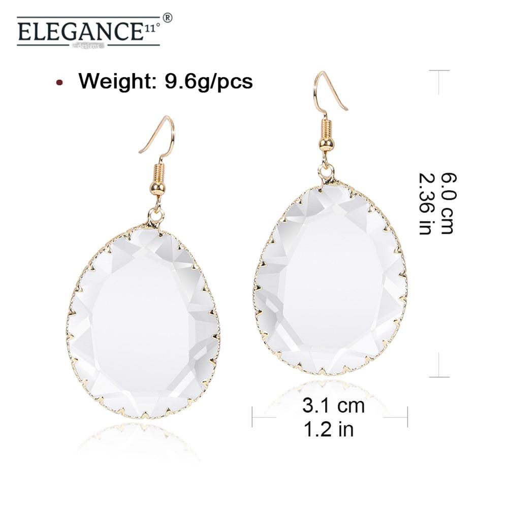 Women Korean Retro Geometric Acrylic Drop Colorful Earrings Fashion Jewelry ONE