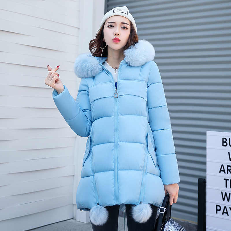 bb74dba2836 Pengpious 2019 winter plus size maternity coat pregnant women solid color  cotton-padded jacket thick